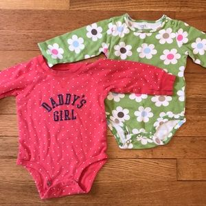 Carter's set of 2- 12M onesies